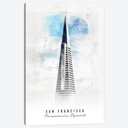 Transamerica Pyramid - San Francisco Canvas Print #APV109} by ArtPrintsVicky Canvas Art