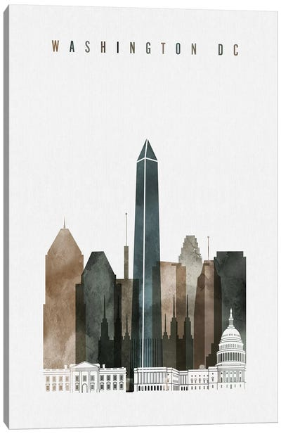 Washington, DC Watercolor II Canvas Art Print