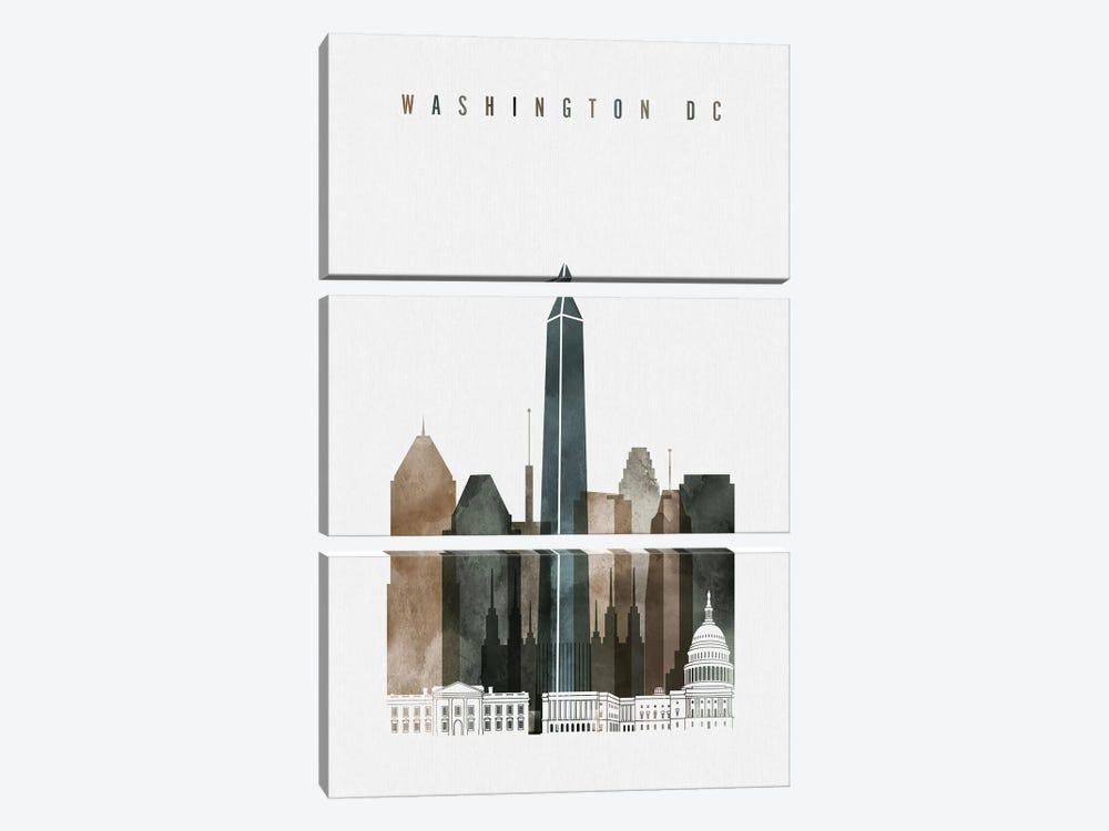 Washington, DC Watercolor II by ArtPrintsVicky 3-piece Canvas Artwork