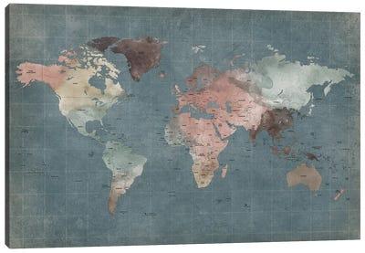 World Map Abstract I Canvas Art Print