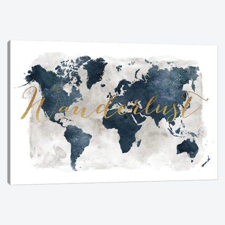 World Map Wanderlust I Canvas Print #APV121} by ArtPrintsVicky Canvas Artwork