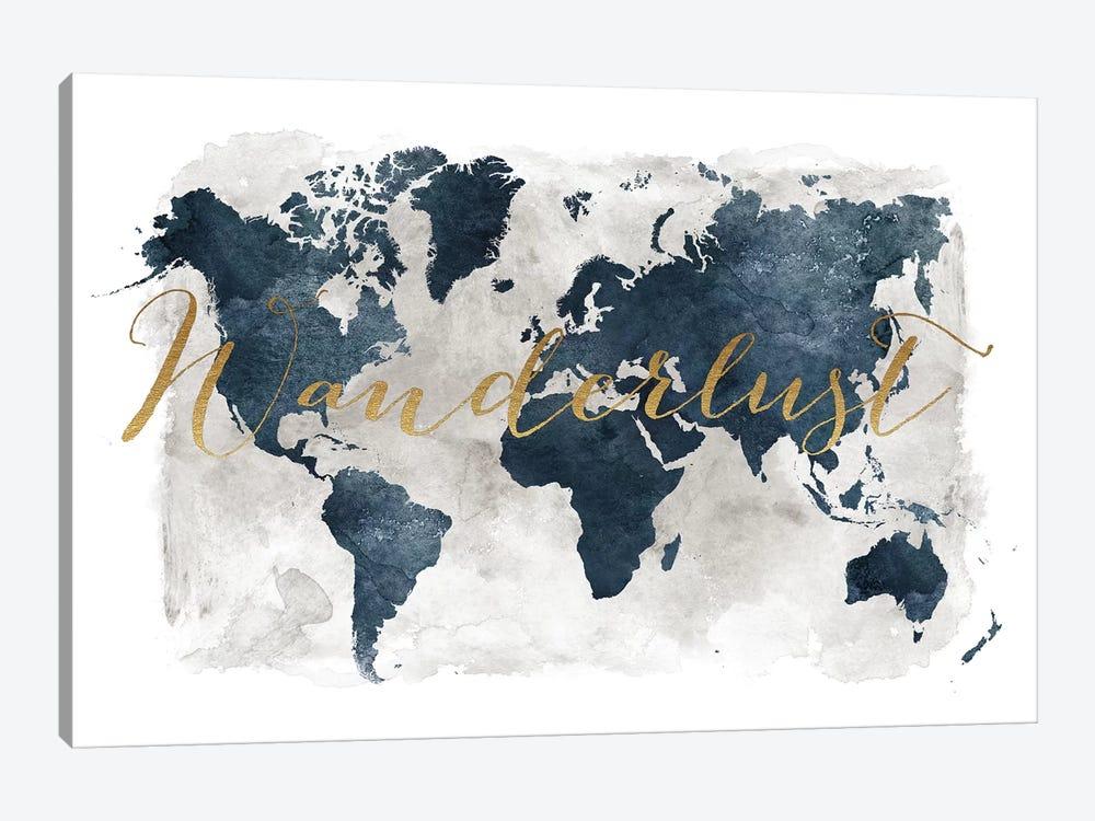World Map Wanderlust I by ArtPrintsVicky 1-piece Canvas Art