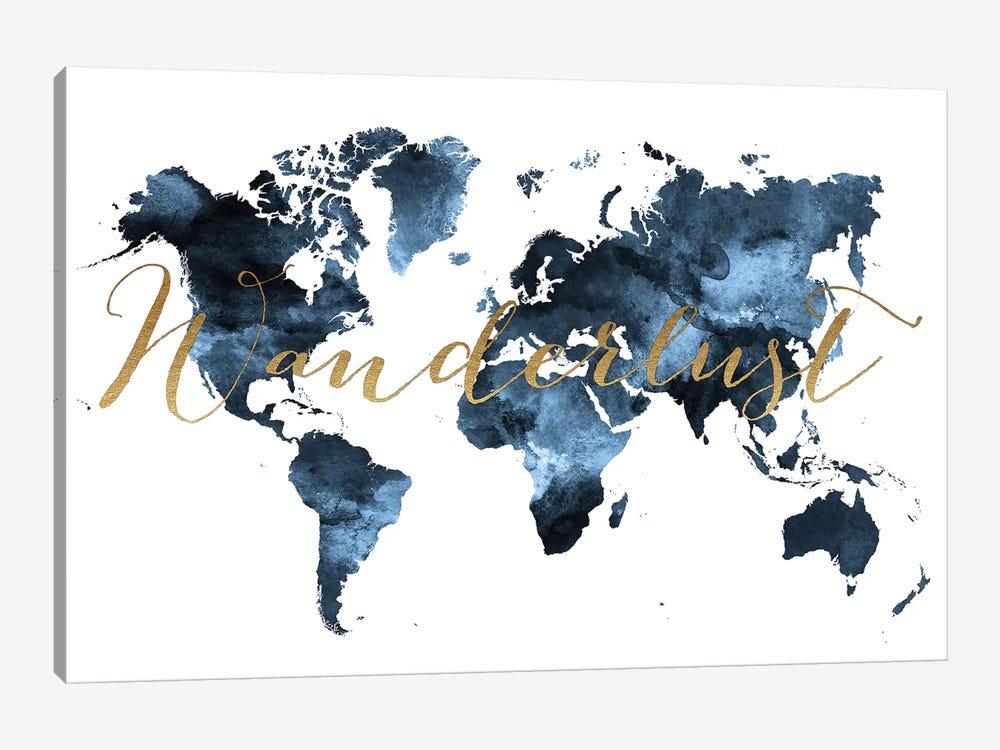 World Map Wanderlust II by ArtPrintsVicky 1-piece Canvas Print