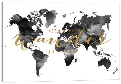 World Map Not All Who Wander I Canvas Art Print
