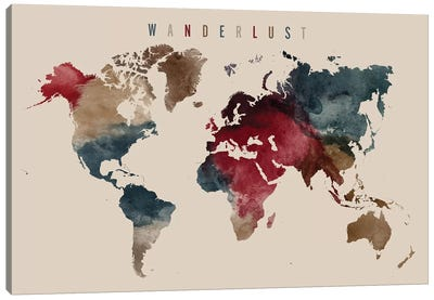 World Map Wanderlust IV Canvas Art Print