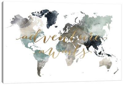 World Map Adventure Awaits II Canvas Art Print