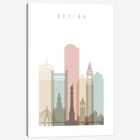 Boston Pastels in White Canvas Print #APV12} by ArtPrintsVicky Art Print