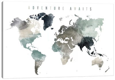World Map Adventure Awaits III Canvas Art Print