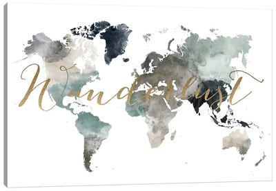 World Map Wanderlust VI Canvas Art Print