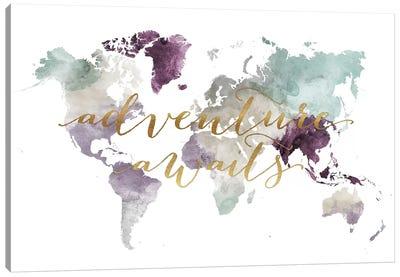 World Map Adventure Awaits IV Canvas Art Print