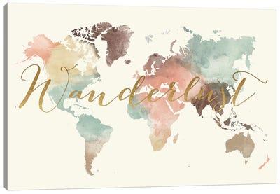 World Map Wanderlust IX Canvas Art Print