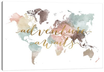 World Map Adventure Awaits VII Canvas Art Print
