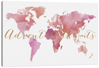 World Map Adventure Awaits VI Canvas Art Print