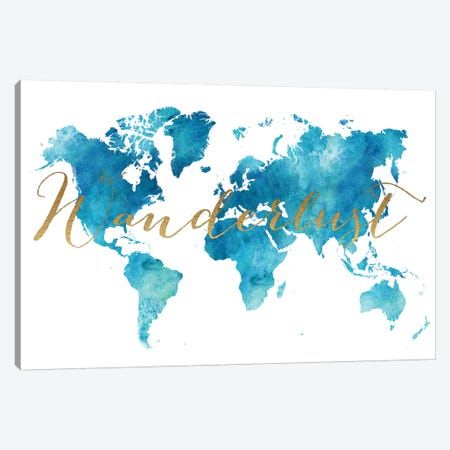 World Map Wanderlust XIII Canvas Print #APV147} by ArtPrintsVicky Canvas Art Print