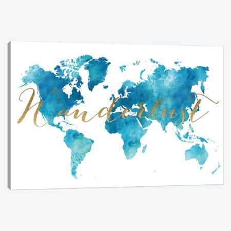 World Map Wanderlust XIII Canvas Print #APV147} by ArtPrintsVicky Canvas Art Print