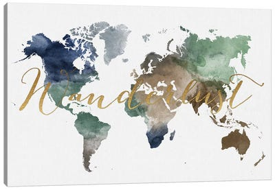 World Map Wanderlust XII Canvas Art Print