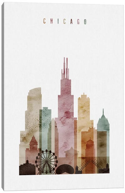 Chicago Watercolor I Canvas Art Print
