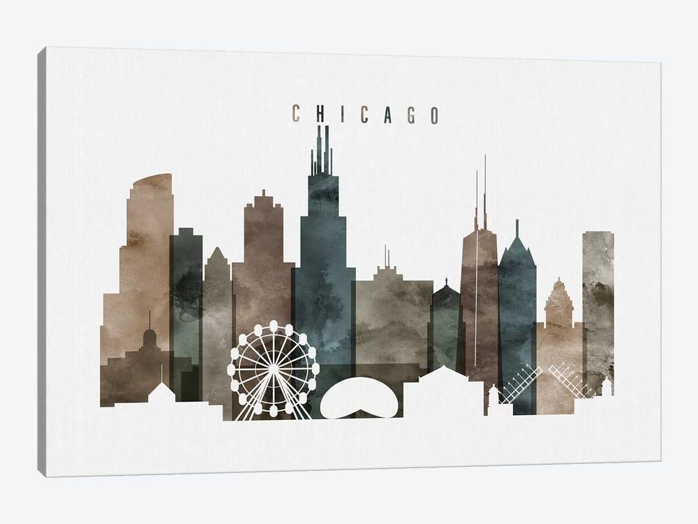 Chicago Watercolor II by ArtPrintsVicky 1-piece Canvas Art Print