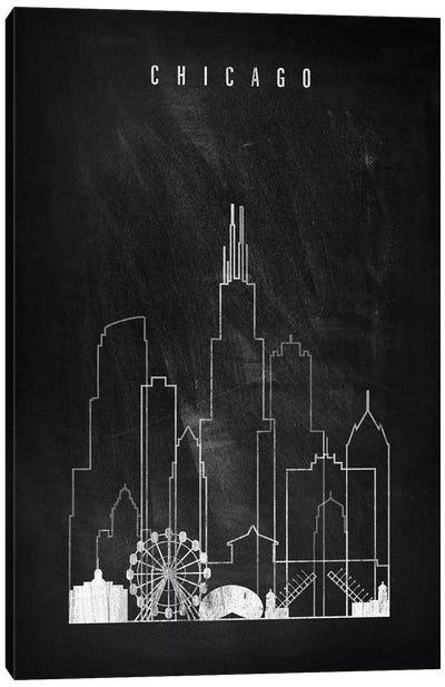 Chicago Chalkboard Canvas Art Print