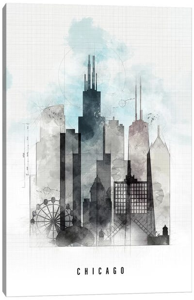 Chicago Urban Canvas Art Print
