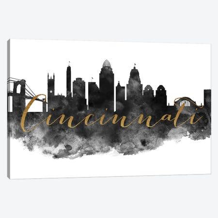 Cincinnati in Black & White Canvas Print #APV23} by ArtPrintsVicky Canvas Artwork