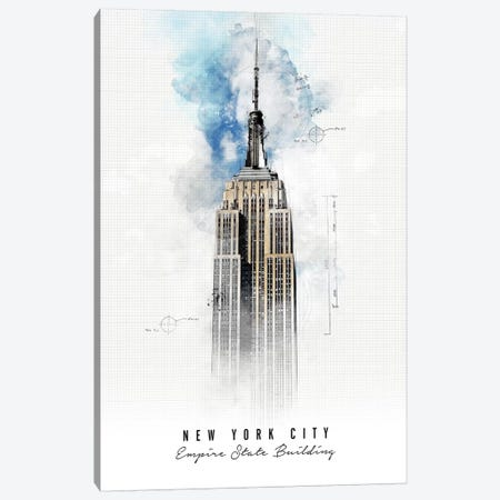 Empire State Building - New York City Canvas Print #APV31} by ArtPrintsVicky Canvas Print