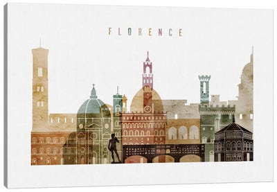 Florence Watercolor I Canvas Art Print