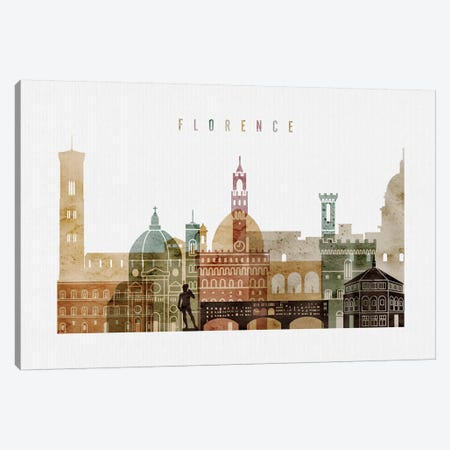Florence Watercolor I Canvas Print #APV32} by ArtPrintsVicky Art Print