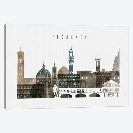 Florence Watercolor II Canvas Print #APV33} by ArtPrintsVicky Canvas Print
