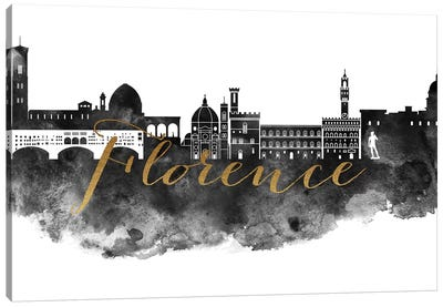 Florence in Black & White Canvas Art Print