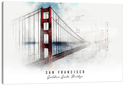 Golden Gate Bridge - San Francisco Canvas Art Print