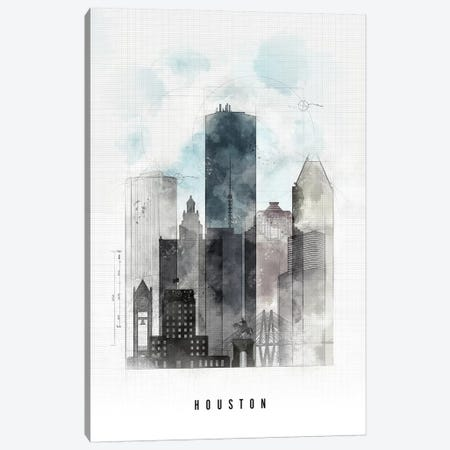 Houston Urban Canvas Print #APV39} by ArtPrintsVicky Canvas Print