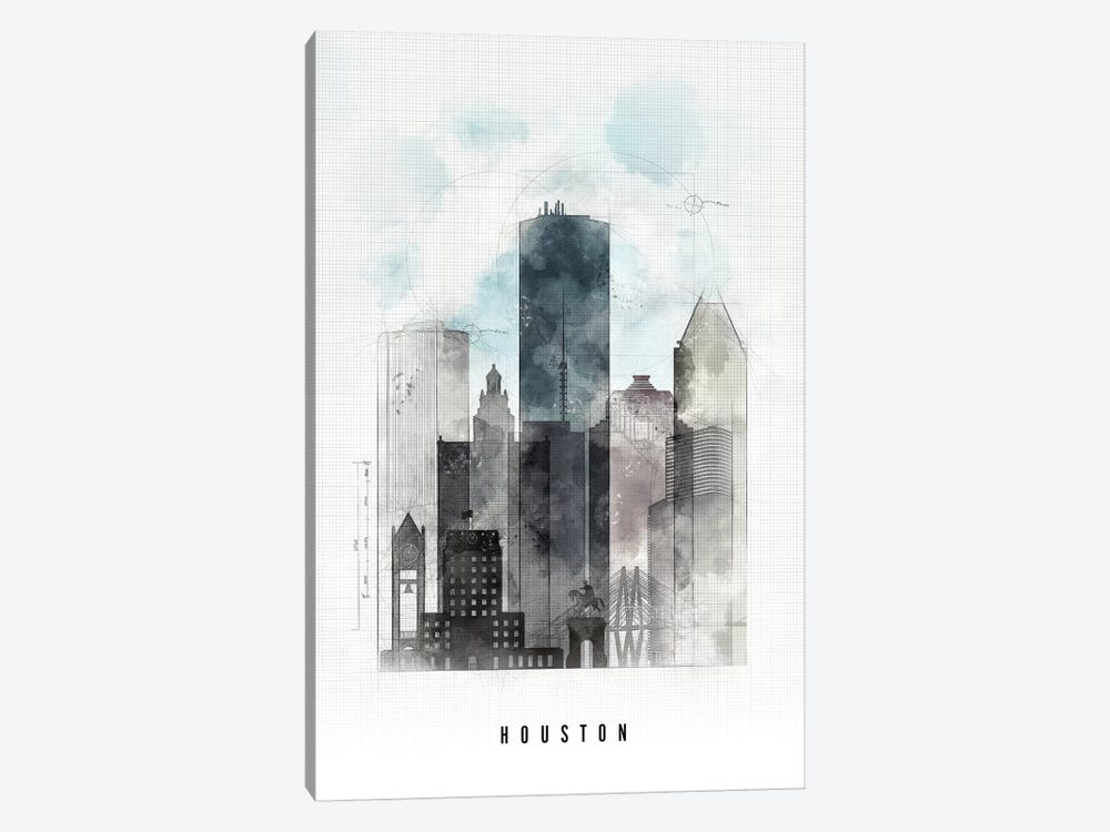 Houston Urban by ArtPrintsVicky 1-piece Art Print