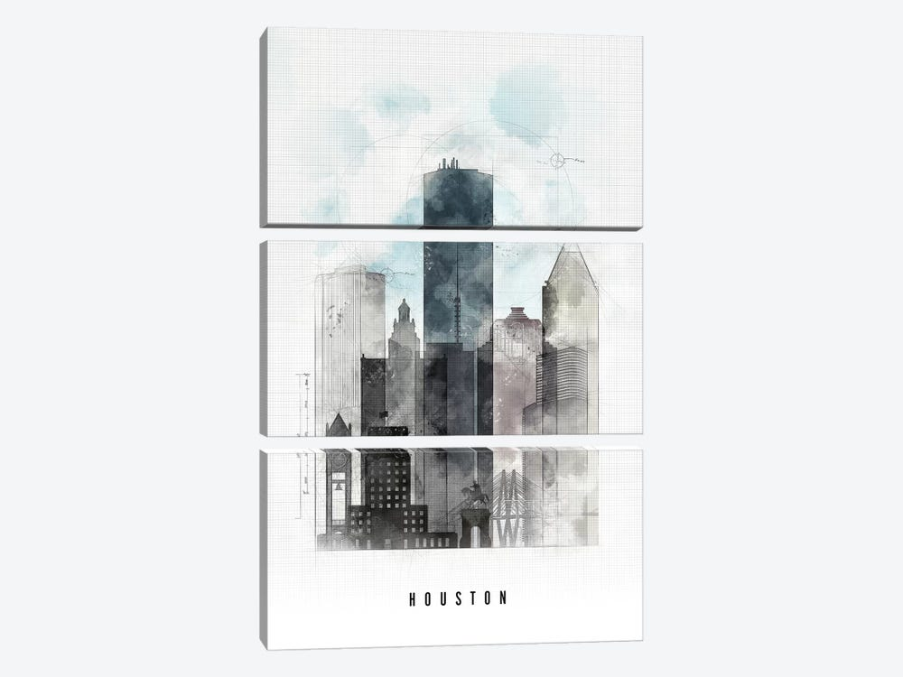 Houston Urban by ArtPrintsVicky 3-piece Art Print