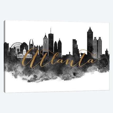Atlanta in Black & White Canvas Print #APV3} by ArtPrintsVicky Canvas Print