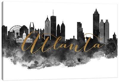 Atlanta in Black & White Canvas Art Print