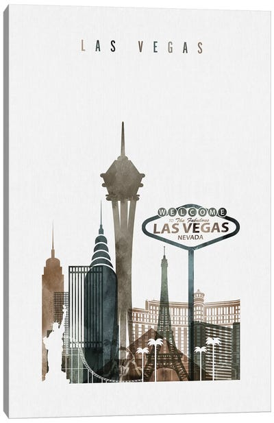 Las Vegas Watercolor II Canvas Art Print