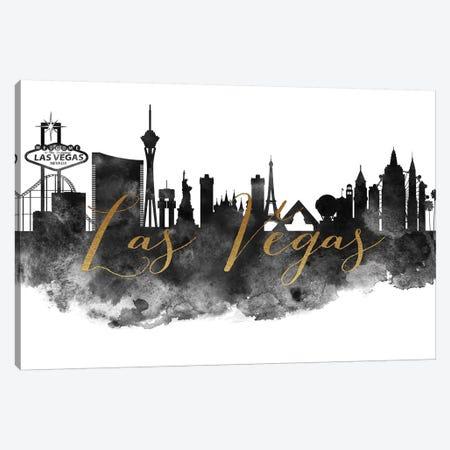Las Vegas in Black & White Canvas Print #APV43} by ArtPrintsVicky Canvas Artwork
