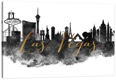 Las Vegas in Black & White Canvas Art Print