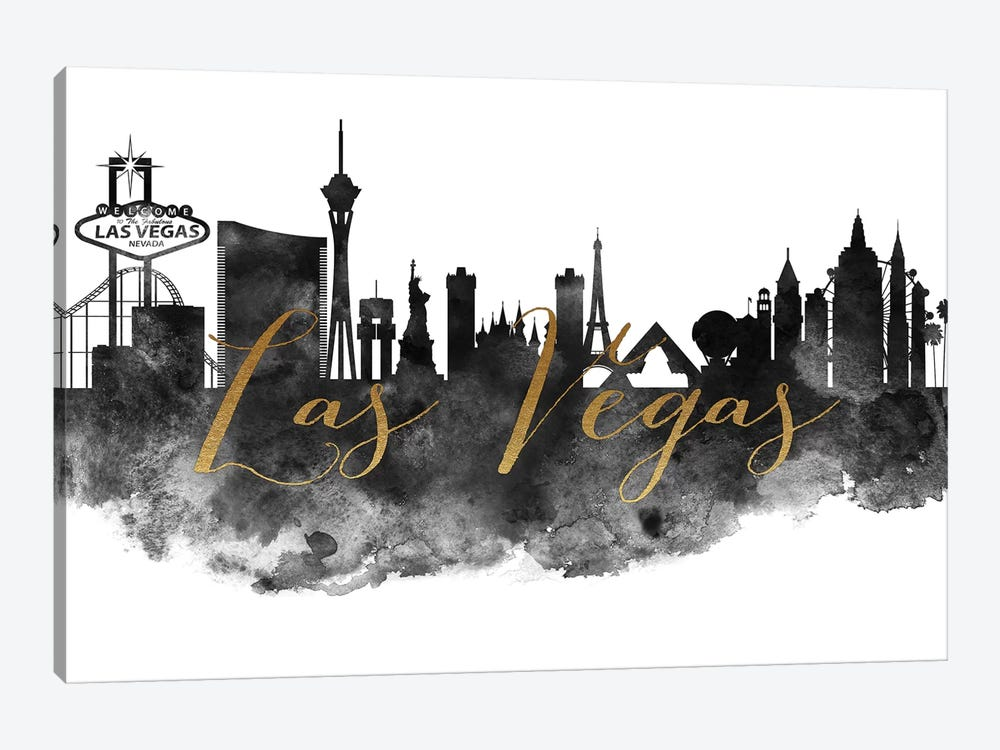 Las Vegas in Black & White by ArtPrintsVicky 1-piece Canvas Art