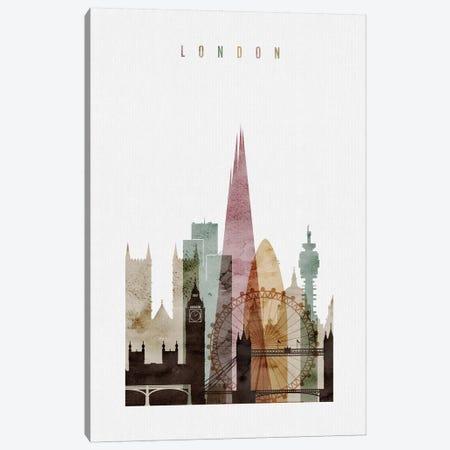 London Watercolor I Canvas Print #APV44} by ArtPrintsVicky Canvas Print
