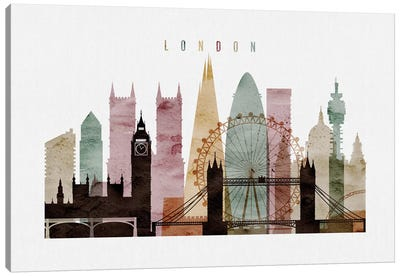 London Watercolor II Canvas Art Print