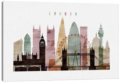 London Watercolor II Canvas Art Print