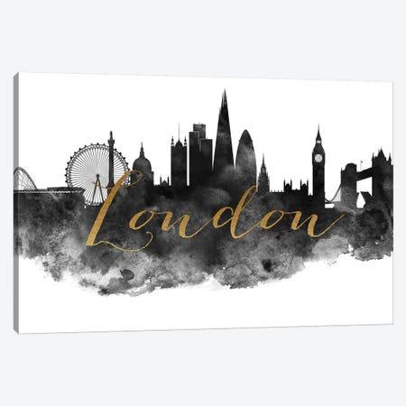 London in Black & White Canvas Print #APV48} by ArtPrintsVicky Canvas Wall Art
