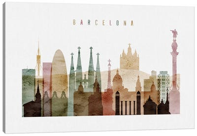 Barcelona Watercolor I Canvas Art Print