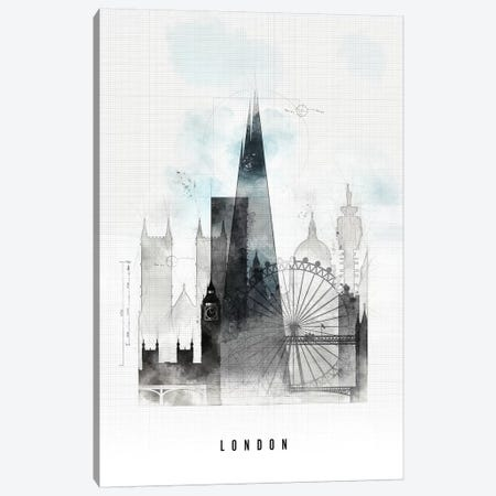 London Urban Canvas Print #APV51} by ArtPrintsVicky Canvas Art Print