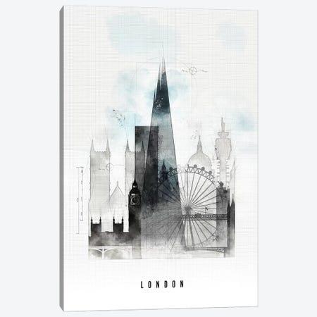London Urban Canvas Print #APV51} by ArtPrintsVicky Canvas Art Print