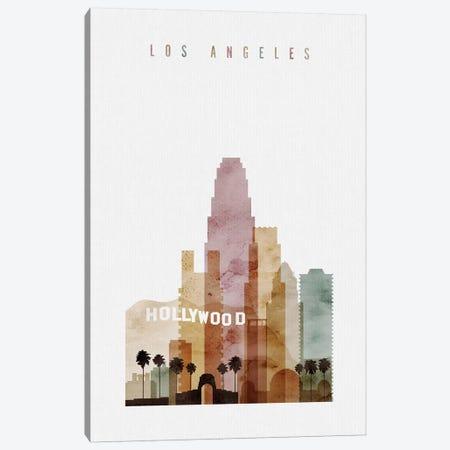 Los Angeles Watercolor I Canvas Print #APV53} by ArtPrintsVicky Canvas Art Print