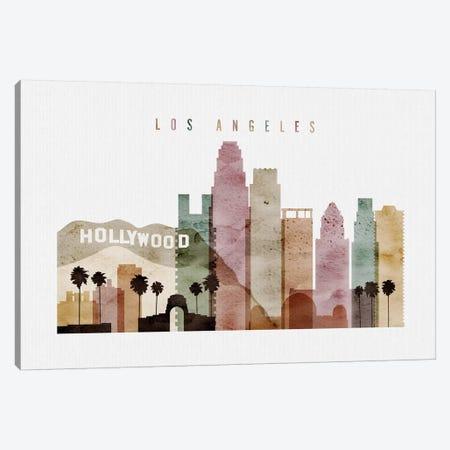 Los Angeles Watercolor II Canvas Print #APV54} by ArtPrintsVicky Canvas Wall Art