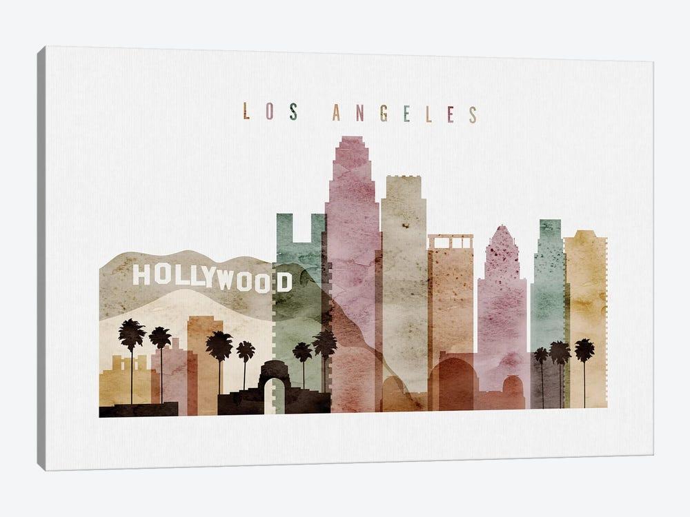 Los Angeles Watercolor II by ArtPrintsVicky 1-piece Canvas Art